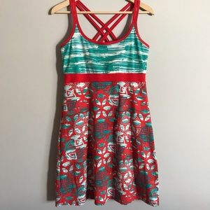 Soybu athletics teal and red cami dress